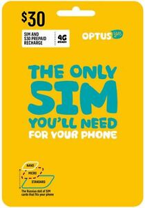 Details about Australia Optus Mobile $30 Prepaid SIM with 10GB data and  call credit (3G/4G) 21