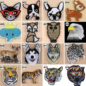 Embroidered-Sew-On-Patches-Animals-Transfer-Fabric-Bag-Clothes-Applique-Trim-A