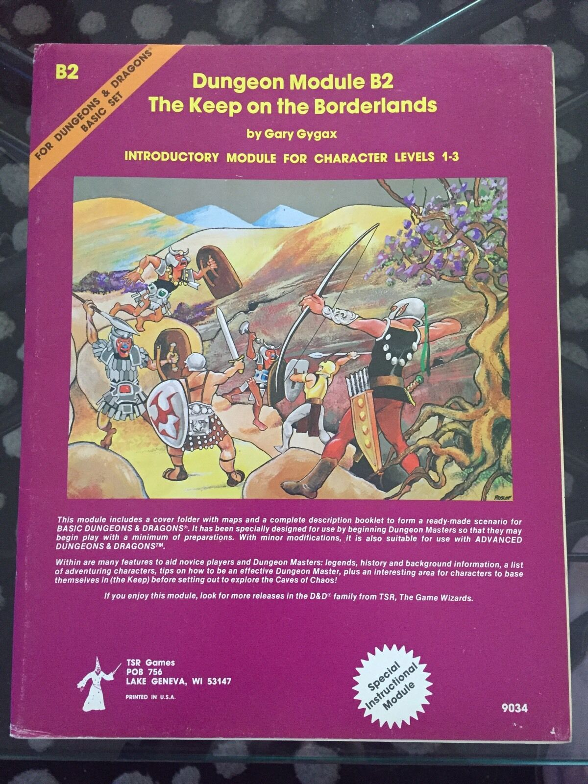 NM DUNGEONS & DRAGONS AD&D MODULE B2 Keep On Borderlands 1st PRINT RARE 9034