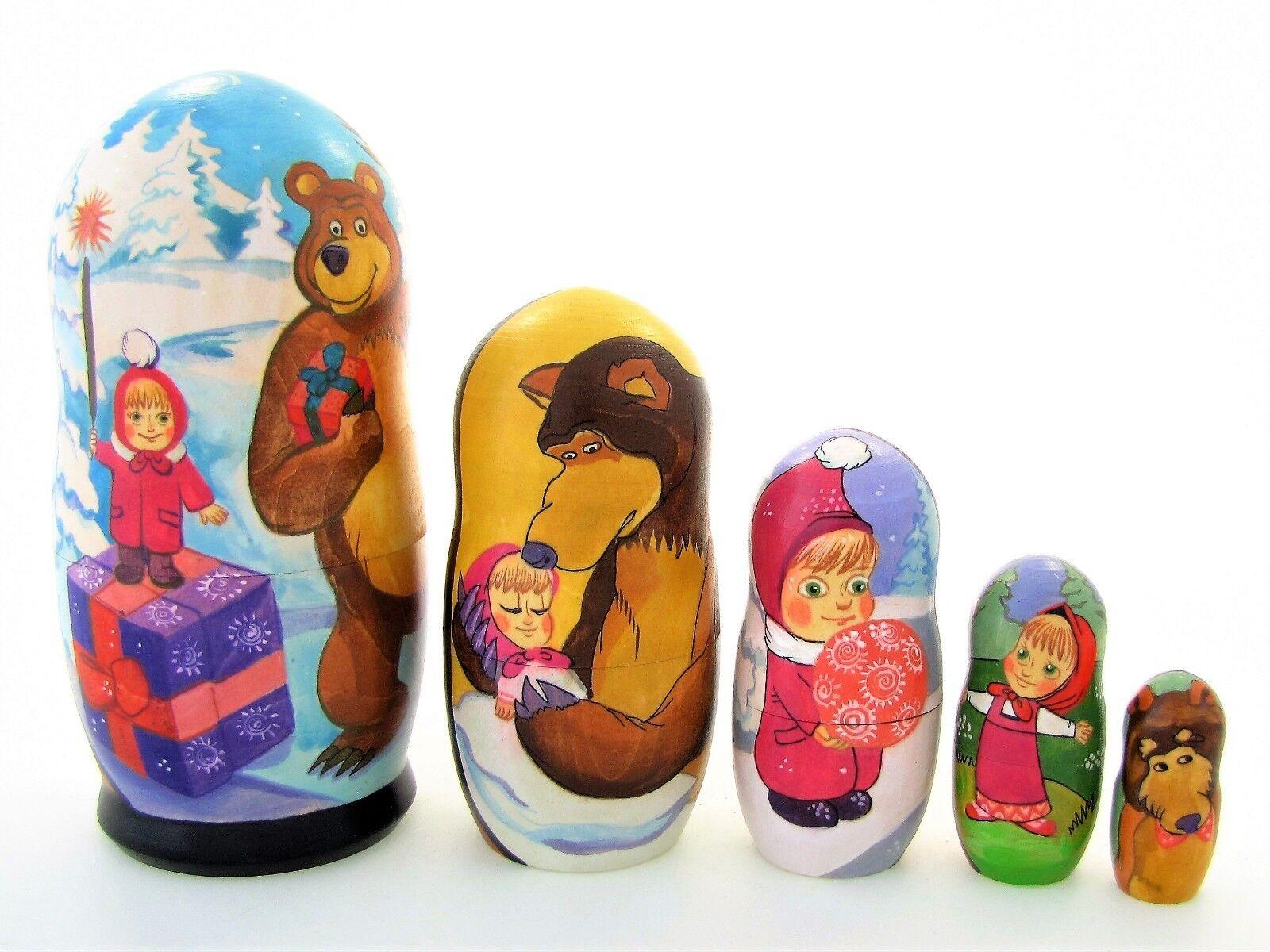 Poupées russes H18 peint main signé Matriochka Gigogne Russian Doll Matrjoschka