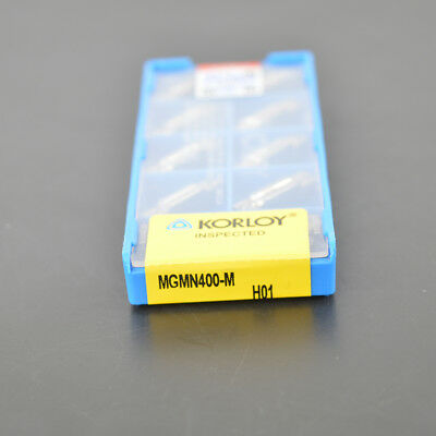 10pcs KORLOY MGMN400-M H01  Used for Aluminum  Grooving Carbide Inserts