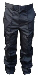 New-Male-Cargo-Trousers-Black-Tactical-Patrol-Security-Dog-Handler-D4