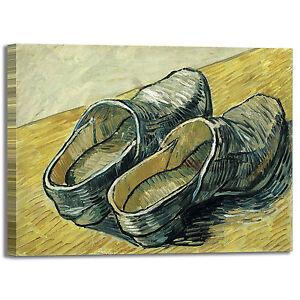 Dettagli su Van Gogh paio di zoccoli design quadro stampa tela dipinto telaio arredo casa