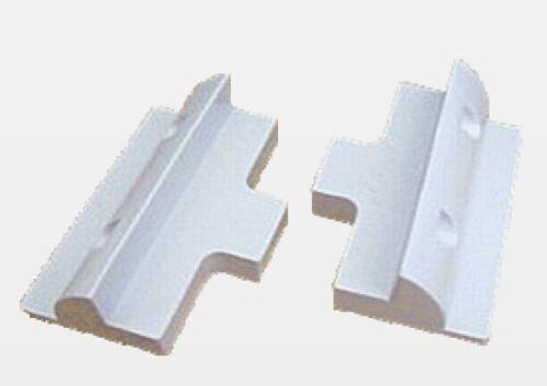 2 Newpowa RV Marine ABS White Solar Panel Side Mounts Bracket Plastic Hole-Free