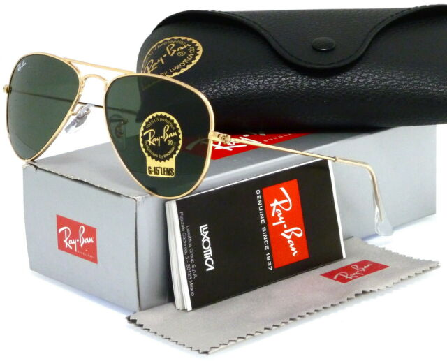 f5dccc58ec4 Ray Ban Aviator RB 3044 L0207 5214 3n Gold Frame Sunglasses Small ...