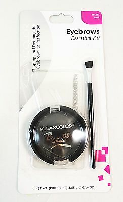 Black Eyebrow Make Up Kit- 3 Eyebrow Stencils, 1 Eyebrow Powder , 1 Brush