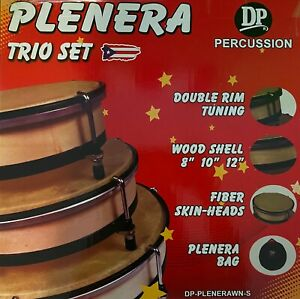 Plenera Set, Set Of 3 Pleneras with Carry Bag-DP (Panderos de Plena) PR