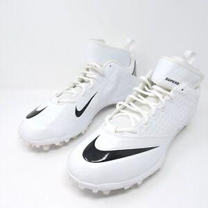 ac64c25fef0b New Mens Nike Lunar Superbad Pro TD Football Cleats White Black ...