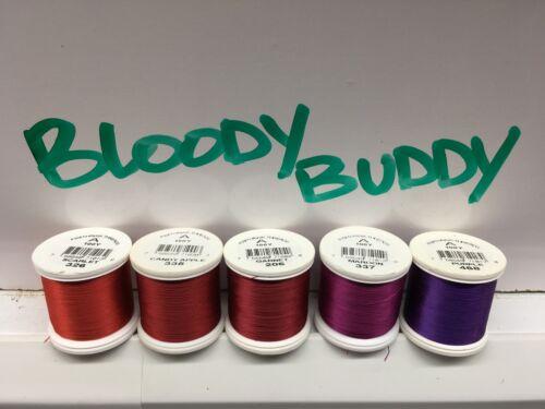 Bloody Buddy Shade Pack Fish Hawk Fishing Rod Thread 5 100 Yard Spools Size A