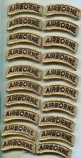 Dealer lot of 20 US Army AIRBORNE New MultiCam Patch Tab W/Hook Back