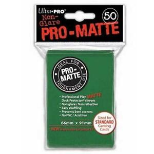 Ultra-Pro-Deck-Protector-Sleeves-GREEN-MTG-Pokemon-Sports-Cards-50-Pack