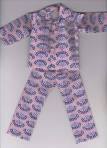 White and Blue USA Print Pajamas fit Ken KP2 Homemade Doll Clothes-Red