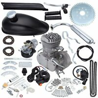 80cc Bike 2 Stroke Gas Engine Motor Kit Diy Motorized Bicycle Black