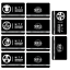miniature 8 -  SCP Foundation Keycards sticker pass 10pcs PLASTIC CARD cosplay games gift