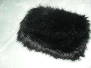 Black-Faux-Fur-Clutch-Bag-BNWOT