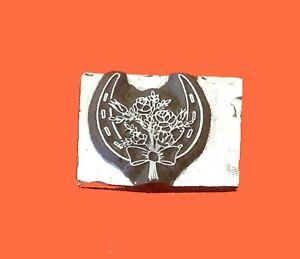 HOT FOIL PRINTING PLATE LETTERPRESS BLOCK Wedding Horseshoe 17 x 20mm #193