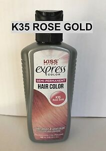 Kiss Express Semi Permanent Hair Color K35 Rose Gold 3 5