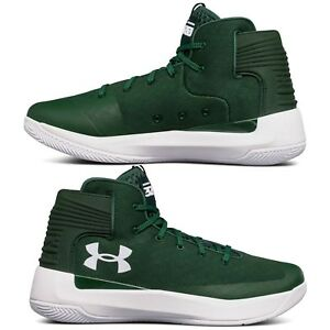 3ad539279b0 Men s Under Armour Curry 3 Zero Basketball Shoes Mid Top Green White ...