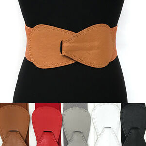 elastic wide hook bowknot waist hip white belt