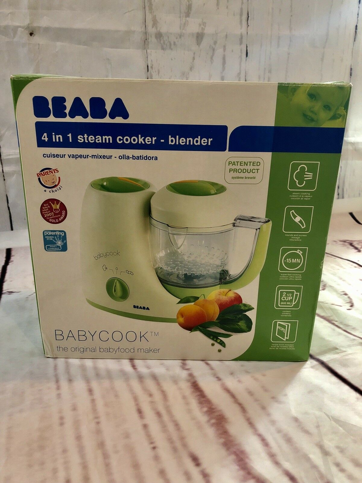 Tapa de caldera Babycook Original Beaba Grey//Blue