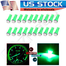 20x T5 Wedge Instrument Dashboard 1SMD LED Light Bulb Lamp 17 37 73 74 79 Green