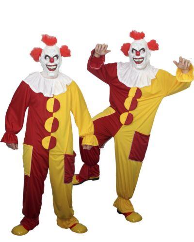 Gli adulti unisex Rosso /& Giallo Clown Costume Spaventoso Pennywise IT Costume