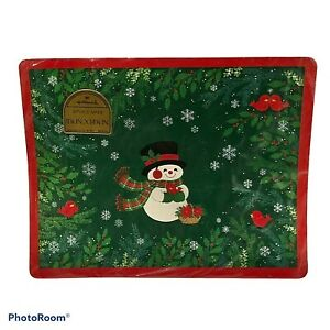 Vintage Hallmark Christmas Snowman Paper Place Mats Pack of 8 New Sealed