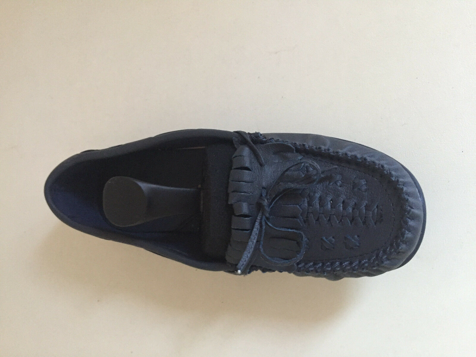 Women Loafers Flat Leather Navy shoes SIZE UK 6 BRAND NEW