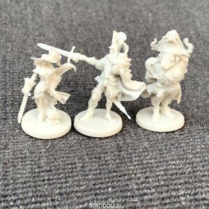 Lot-3-Unpainted-hero-Dungeons-amp-Dragon-D-amp-D-Marvelous-Miniatures-toy-game-figures