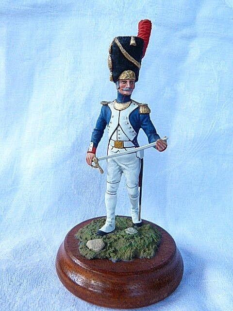 Soldat de plomb 90mm - lieutenant du premier r é giment des grenadioers 1811
