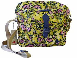 NEU-Oilily-Tasche-Camo-Flower-M-Shoulder-Bag-Pineapple-Damen-Umhaengetasche-Gelb
