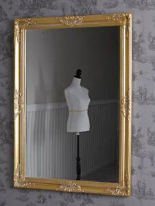Barockspiegel-Spiegel-Antik-Gold-Wandspiegel-Flurspiegel-103-x-73cm-Goldspiegel