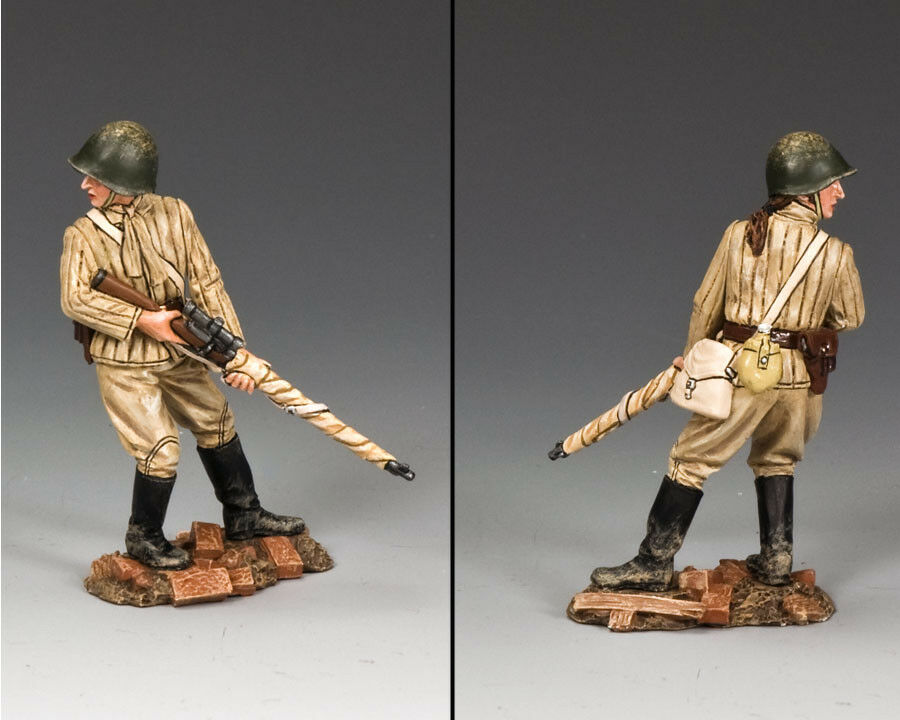 KING & COUNTRY FALL OF BERLIN RA055 RUSSIAN RED ARMY FEMALE SNIPER MIB