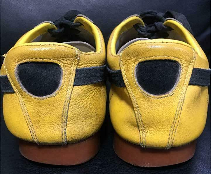 70's VINTAGE PUMA SNEAKERS SNEAKERS SNEAKERS MEN YELLOW CASUAL SHOES LEATHER SUEDE USED JAPAN F S a8a6bc