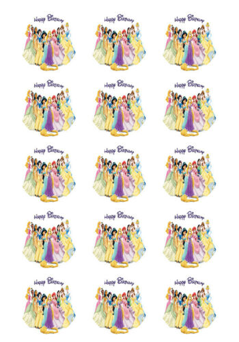 Disney Princesses Personalized Edible Print Cake Topper Frosting Sheets 5 Sizes