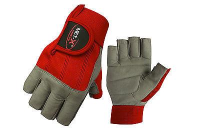 Met-X Cut Finger Leather Suede Sailing Gloves Neoprene Sailing Gloves