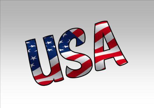 USA AMERICAN FLAG CAR WINDOW STICKER DECAL for TRAILER CAR UTE TRUCK