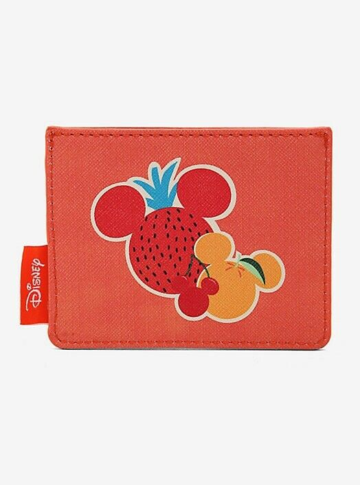 Loungefly Disney Mickey Mouse Spring Fruits Cardholder ID Wallet