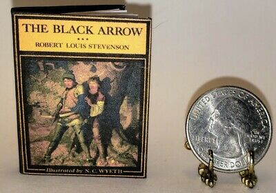 C WYETH 1:12 SCALE MINIATURE BOOK TREASURE ISLAND ILLUSTRATED N