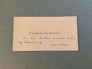 Charles Le Bargy Acteur Realisateur Cinema Carte De