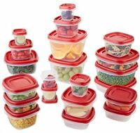 42 Set Rubbermaid Containers With Lids Long Term Food Storage Emergency Freezer
