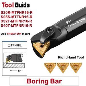 91° S20R S25S S32T S40T MTFNR 16 R Lathe Tool Holder Boring Bar Carbide Internal
