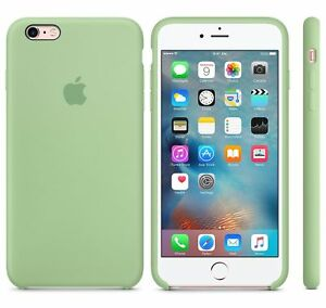 half off da6cf 29cec Details about MINT GREEN GENUINE Apple Silicone Case For iPhone 6S 4.7