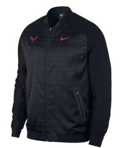 Veste Taille L 2017 Ebay 2a Nikecourt Nadal Homme Tennis Rafael Noir yZHPCOq