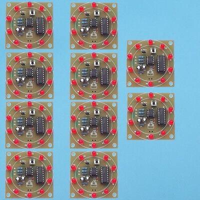 10X NE555 Electronic LED Lucky Wheel Analog Lottery Tumbler Suite 3-5V DIY Kits