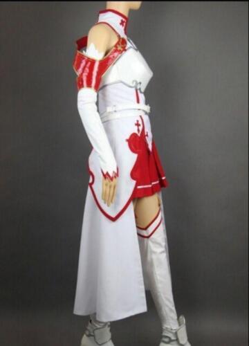 Cosplay Costume Set Halloween Womens HOt Anime Sword Art Online SAO Asuna Yuuki