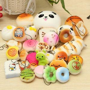 Squishy Mini Bun : 30pcs/Set Soft Squishy Mini Panda/Bread Random Jumbo Medium Cake Bun Phone Strap eBay