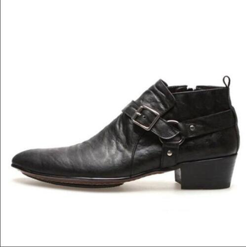 Sz38 rétro Cubaines Boucle 43 en Bottines formelles à bout cuir pour homme pointu Chaussures KTFJcl13