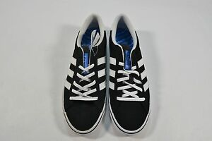 low priced d7a0a 2732d Image is loading Adidas-AMERICANA-VIN-Black-White-Blue-Skateboarding -Discounted-