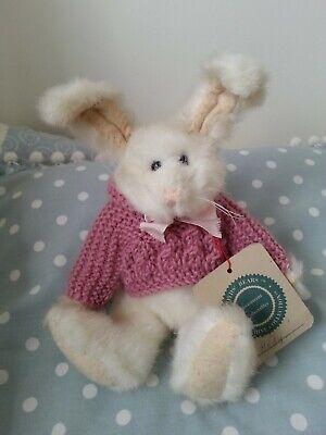 """Brioso Boyds Bears Hedy In Pensione 8"""" Peluche Coniglio Bunny/sweater Nuovo Con Etichette-mostra Il Titolo Originale Abbiamo Vinto L'Elogio Dai Clienti"""